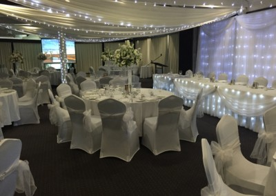 White chair covers-Spinnakers